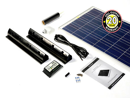 Motorhome, Campervan & Boat solar panel kits for sale. 80kit