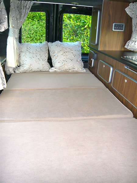 FIAT DOBLO MOTORHOME  WITH NEW CONVERSION FOR SALE . bed