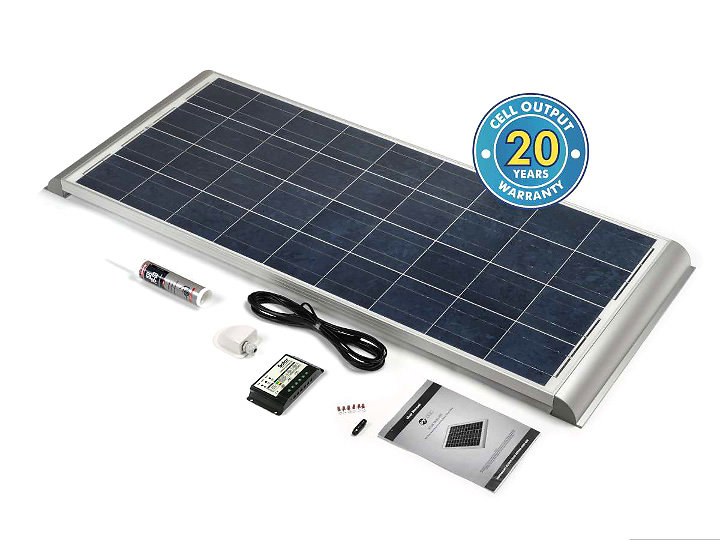 Motorhome, Campervan & Boat solar panel kits for sale. stpmh150ae