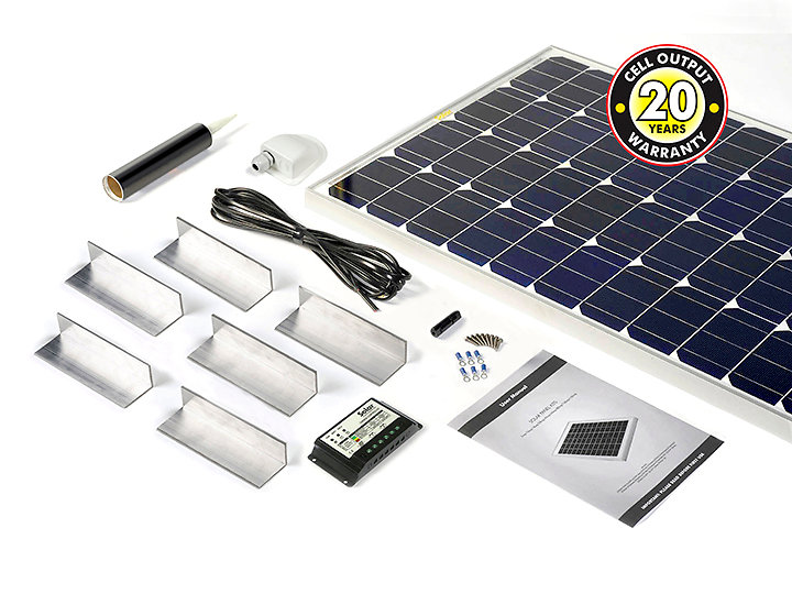 Motorhome, Campervan & Boat solar panel kits for sale. stpmh150a